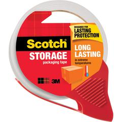 """Scotch® Packaging Tape, 1.88"""" x 54.60 Yds - 1.88"""" Width x 38.20 yd Length - 3"""" Core - Acrylic Backing - Dispenser Included - Handheld Dispenser - 1 Roll - Clear"""