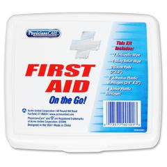 PhysiciansCare On-the-go First Aid Kit - 13 x Piece(s) - HeightPlastic Case - 1 Each