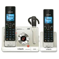 VTech LS6475-3 DECT 6.0 Expandable Cordless Phone with Answering System and DECT Cordless Headset, Silver with 2 Handsets and 1 Headset - Cordless - 1 x Phone Line - 2 x Handset - Speakerphone - Answe
