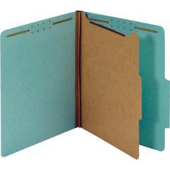 "Pendaflex 1-Divider Pressboard Classification Folders - Letter - 8 1/2"" x 11"" Sheet Size - 1 3/4"" Expansion - 4 Fastener(s) - 2"" Fastener Capacity, 1"" Fastener Capacity for Divider - 2/5 Tab Cut - Top"