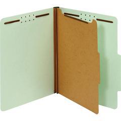 "Pendaflex 1-Divider Pressboard Classification Folders - Letter - 8 1/2"" x 11"" Sheet Size - 2"" Expansion - 4 Fastener(s) - 2"" Fastener Capacity - 2/5 Tab Cut - Right Tab Location - 1 Divider(s) - 25 pt"