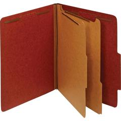 """Pendaflex 2-divider Recycled Classifictn Folders - Letter - 8 1/2"""" x 11"""" Sheet Size - 2 1/2"""" Expansion - 2 Fastener(s) - 2"""" Fastener Capacity, 1"""" Fastener Capacity for Divider - 2/5 Tab Cut - Right Ta"""