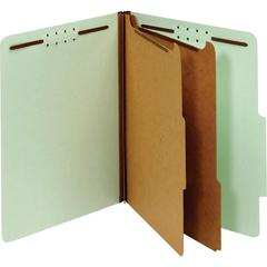 "Pendaflex 2-divider Recycled Classification Folders - Letter - 8 1/2"" x 11"" Sheet Size - 2 1/2"" Expansion - 4 Fastener(s) - 2"" Fastener Capacity, 1"" Fastener Capacity for Divider - 2/5 Tab Cut - Right"