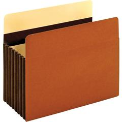 """Pendaflex Heavy-duty Accordion File Pockets - Letter - 8 1/2"""" x 11"""" Sheet Size - 1600 Sheet Capacity - 7"""" Expansion - 24 pt. Folder Thickness - Redrope - Brown - 1.89 lb - Recycled - 5 / Box"""