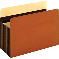"""Pendaflex Heavy-duty Accordion File Pockets - Legal - 8 1/2"""" x 14"""" Sheet Size - 1600 Sheet Capacity - 7"""" Expansion - 24 pt. Folder Thickness - Redrope - Brown - 7.68 oz - Recycled - 5 / Box"""