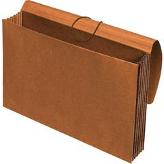 """Pendaflex Extra Wide Tyvek Wallets - Legal - 10"""" x 15 3/8"""", 8 1/2"""" x 14"""" Sheet Size - 1200 Sheet Capacity - 5 1/4"""" Expansion - Top Tab Location - 11 pt. Folder Thickness - Redrope - Brown - Recycled -"""