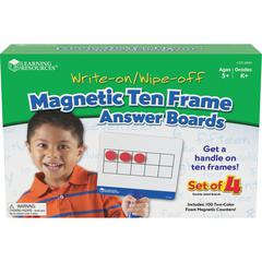 Learning Resources Magnetic 10-frame Answer Boards - Theme/Subject: Learning - Skill Learning: Mathematics, Counting, Operation