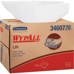 Wypall WypAll L20 Wipers Brag Box - Wipe - 176 / Carton - White