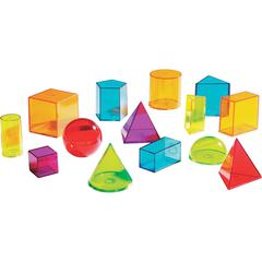 Learning Resources View Thru Geometric Solids Set - Theme/Subject: Learning - Skill Learning: Shape, Geometry, Measurement, Volume - 14 Pieces - 8+