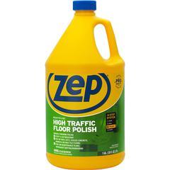 Zep Commercial High Traffic Floor Finish - 1 gal (128 fl oz) - 1 Each - Clear, Green