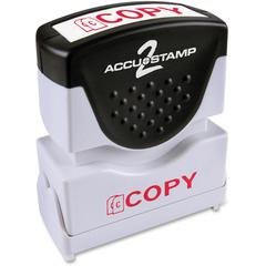 """COSCO 1-Color Red Shutter Stamp w/ Microban - Message Stamp - """"COPY"""" - 0.50"""" Impression Width x 1.63"""" Impression Length - 20000 Impression(s) - Red - Rubber, Plastic Handle, Frame - 1 Each"""