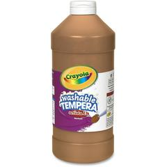Crayola Washable Tempera Paint - 2 lb - 1 Each - Brown