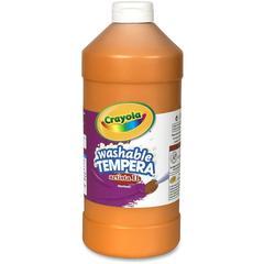 Crayola Washable Tempera Paint - 2 lb - 1 Each - Orange