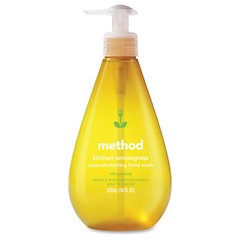 Method Kitchen Lemongrass Hand Wash - Lemongrass Scent - 18 fl oz (532.3 mL) - Pump Bottle Dispenser - Odor Remover - Hand - Yellow - Paraben-free, Phthalate-free, Triclosan-free - 1 Each