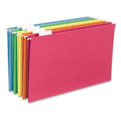 "Sparco 1/5-cut Tab Slots Colored Hanging Folders - Legal - 8 1/2"" x 14"" Sheet Size - 1/5 Tab Cut - Top Tab Location - Assorted - 25 / Box"
