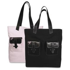 """Day-Timer 48479 Carrying Case (Tote) for Travel Essential - Black, Pink - Canvas - Carrying Strap - 15"""" Height x 13"""" Width x 6"""" Depth"""