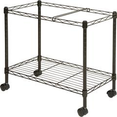 """Lorell Mobile File Cart - 4 Casters - Steel - 12.9"""" Width x 25.8"""" Depth x 20.5"""" Height - Black"""
