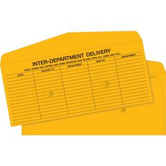 "Interdepartmental Envelope - Interoffice - #14 - 5"" Width x 11.50"" Length - 20 lb - Kraft - 500 / Box - Brown Kraft"