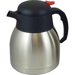 Genuine Joe Double Wall Stainless Vacuum Insulated Carafe - 1.1 quart (1 L) - Vacuum - Stainless Steel
