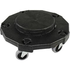 """Genuine Joe Round Dolly - 5 Casters - 3"""" Caster Size - Resin - Black"""