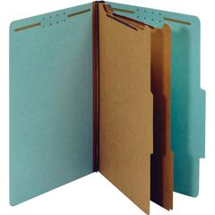"Pendaflex 2-divider Recycled Classification Folders - Legal - 8 1/2"" x 14"" Sheet Size - 2 1/2"" Expansion - 6 Fastener(s) - 2"" Fastener Capacity for Folder, 1"" Fastener Capacity for Divider - 2/5 Tab C"