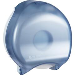 "San Jamar Classic Single JBT Tissue Dispenser - Roll Dispenser - 1 x Roll - 12"" Height x 10.3"" Width x 5.6"" Depth - Plastic - Arctic Blue - Durable, Break Resistant, Key Lock, Long Lasting, Damage Res"