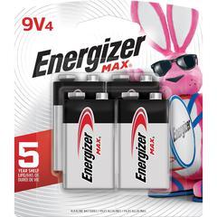 Energizer MAX General Purpose Battery - 9V - Alkaline - 9 V DC - 4 / Pack