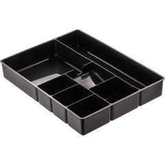 "OIC 7-Compartment Deep Desk Drawer Tray - 7 Compartment(s) - 2.3"" Height x 11.5"" Width - Black - 1Each"