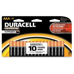 Duracell Coppertop Alkaline AAA Battery - MN2400 - AAA - Alkaline Manganese Dioxide - 1.5 V DC