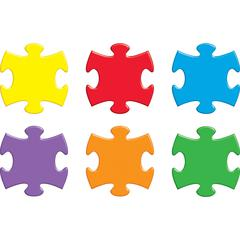 Trend Accents Interlocking Puzzle - Theme/Subject: Learning - Skill Learning: Writing, Alphabet, Patterning, Sorting - 36 Pieces