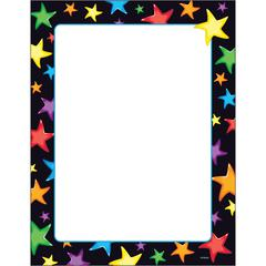 "Trend Gel Stars Copy & Multipurpose Paper - Letter - 8 1/2"" x 11"" - 50 / Pack - Assorted, White"
