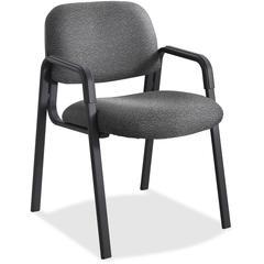 "Safco Cava Urth Series Straight Leg Guest Chair - Polyester Black Seat - Polyester Black Back - Black Frame - Four-legged Base - Nylon - 20"" Seat Width x 18"" Seat Depth - 22.5"" Width x 24"" Depth x 32."