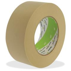 "3M Crepe Masking Tape - 1"" Width x 60 yd Length - 3"" Core - Rubber Backing - Pressure Sensitive - 1 Roll - Tan"