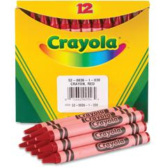 Crayola Bulk Crayons - Red - 12 / Box