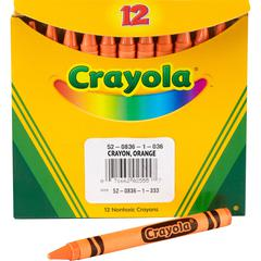 Crayola Bulk Crayons - Orange - 12 / Pack