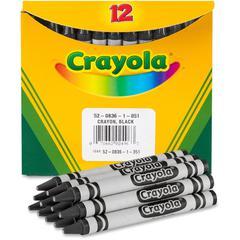Crayola Bulk Crayons - Black - 12 / Box