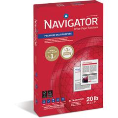 "Navigator Laser, Inkjet Print Copy & Multipurpose Paper - 11"" x 17"" - 20 lb Basis Weight - Smooth - 97 Brightness - 5 / Carton - White"