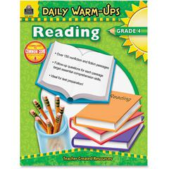 Teacher Created Resources Warm-up Grade 4 Reading Rook Education Printed Book - English - Softcover - 176 Pages