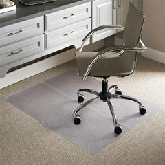 "ES Robbins Everlife Low-pile Carpet Multipurp. Mat - Carpeted Floor - 48"" Length x 36"" Width - Vinyl - Clear"