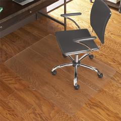 ES Robbins Foldable Hard floor Series Chairmat - Hardwood Floor, Carpeted Floor, Hard Floor, Home, Office, Tile Floor, Wood Floor, Vinyl Floor - Vinyl - Clear