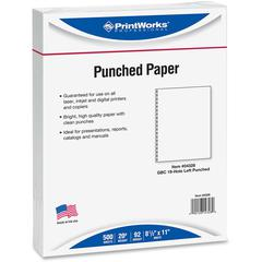 "Printworks Laser, Inkjet Print Copy & Multipurpose Paper - Letter - 8 1/2"" x 11"" - 20 lb Basis Weight - 500 / Ream - White"