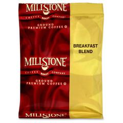 Millstone Folgers Ground Premium Coffee - Regular - Breakfast Blend - 1.8 oz Per Carton - 40 CoffeeBag - 40 / Carton