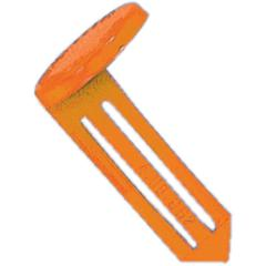 "Nylon Vault Key-Hole Signals - 25 / Box - 1.9"" Width x 1"" Height - Plastic - Orange"