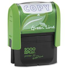 """Consolidated Stamp Cosco Green Line COPY Self-inking Stamp - Message Stamp - """"COPY"""" - 5000 Impression(s) - Blue - Recycled - 1 Each"""