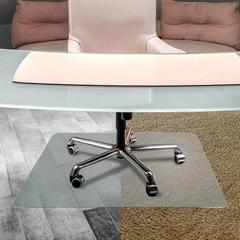 """Cleartex UnoMat Hard Floor/Very Low Pile Chair Mat - Floor, Hard Floor - 53"""" Length x 48"""" Width x 74.8 mil Thickness - Polycarbonate - Clear"""