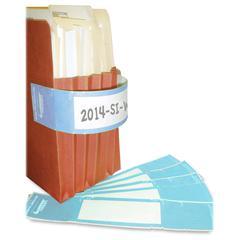 """Tabbies File Pocket Handles - 9.63"""" Width x 2"""" Length - 4 / Sheet - Rectangle - Light Blue, White - Tyvek - 48 / Pack"""