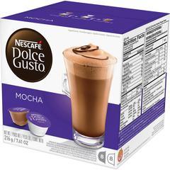 Nescafe Dolce Gusto Mocha Coffee Capsules Capsule - Compatible with Majesto Automatic Coffee Machine - Mocha, Cocoa, Arabica - 16 / Box