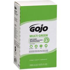 Multi Green Hand Cleaner - Citrus Scent - 67.6 fl oz (2 L) - Soil Remover, Dirt Remover, Kill Germs - Hand - Green - 1 / Each