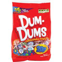 Dum Dum Pops Original Candy - Assorted - Fat-free - 200 / Bag