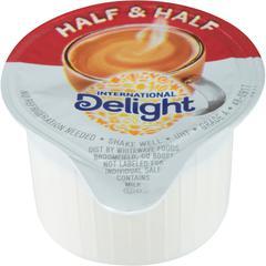 International Delight Int'l Delight Half/Half Singles - 0.03 fl oz (1 mL) - 180/Carton - 1 Serving